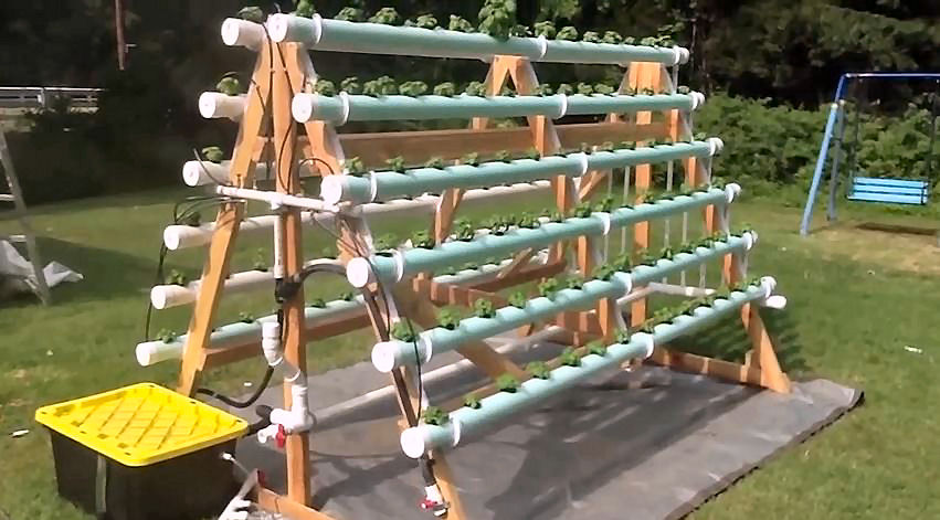 Diy Hydroponic Backyard A Frame Do It Yourself At Home