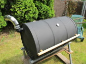 DIY, Build Outdoor Barrel Barbecue, Grill, Back Yard, Do It Yourself
