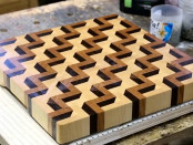 DIY, 3D, End-Grain, Wood, Kitchen, Cutting Board, Woodworking, Do It Yourself, Tutorial