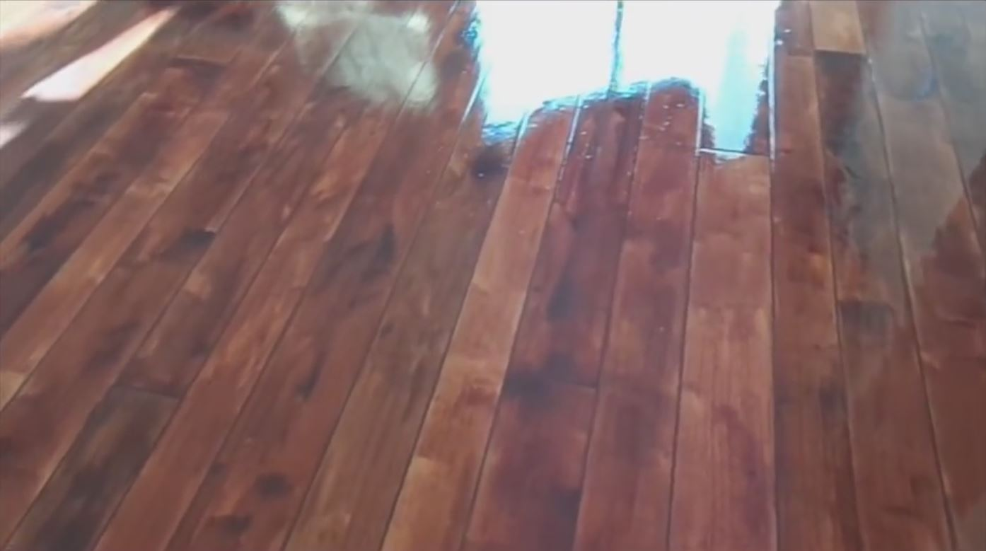 Diy Concrete Floor Stained To Look Like Wood Backporch Garage