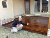 DIY, Concrete Floor, Stained to Look Like Wood, Backporch, Garage Floor, Front Porch
