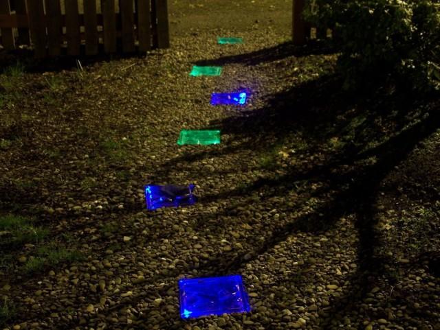 DIY, Solar, Walkway, Path, Garden, Lighted, Back Yard, Do It Yourself