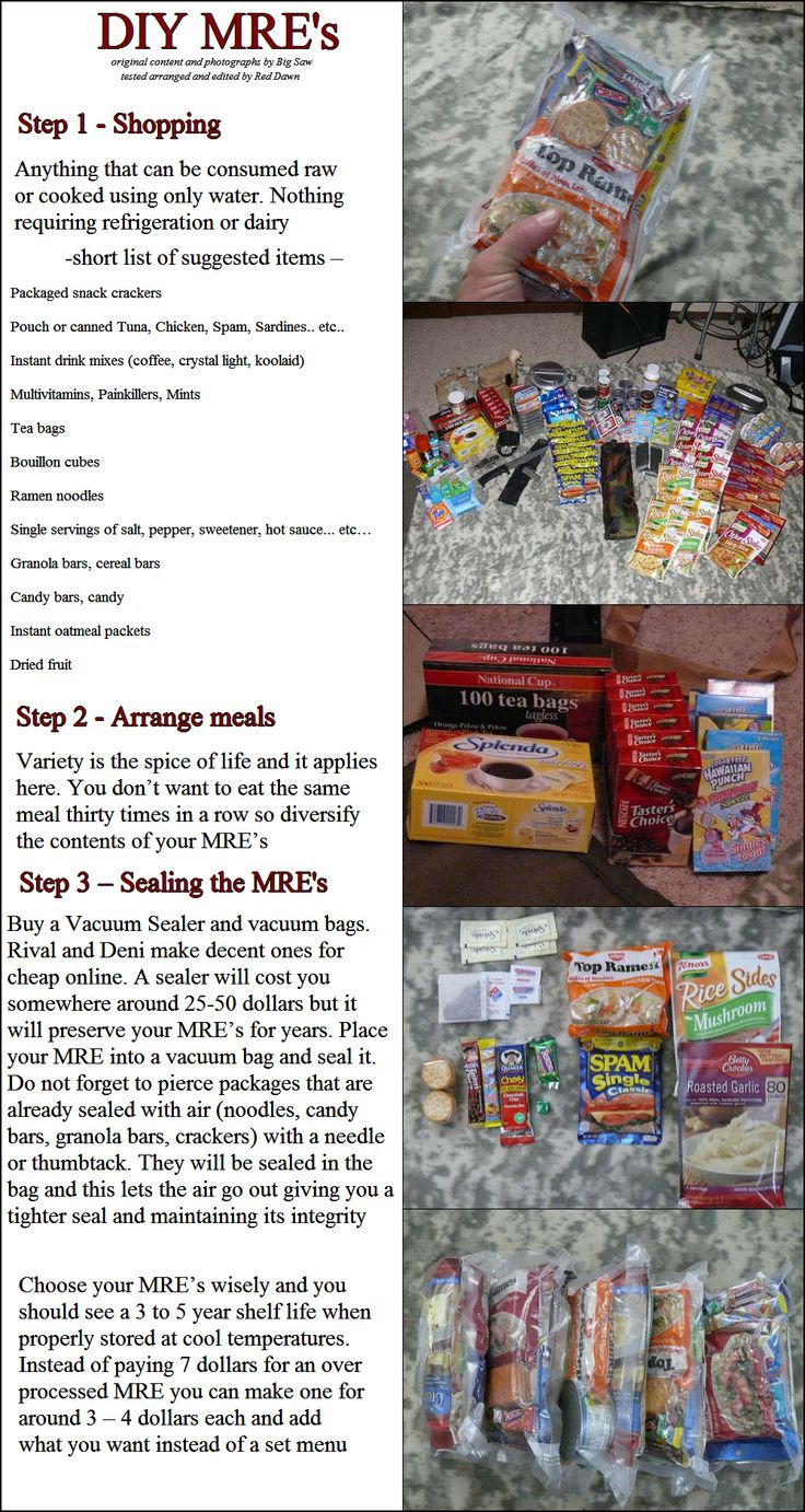 Diy Survival Make Mre S Meal Ready To Eat At Home