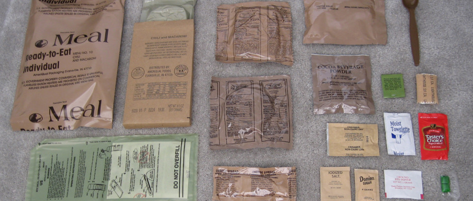 DIY MRE, Meal Ready to Eat, Military, Survival, Preppers, Disaster Food, Do It Yourself, preparedness